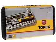 Отвертка с трещоткой TOPEX 46 предметов