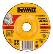 Диск абразивный DeWalt INDUSTRIAL 125*6,3*22,2 металл DT 42320Z-QZ