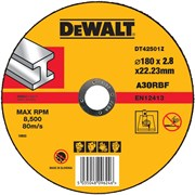 Диск абразивный DeWalt INDUSTRIAL 180*2,8*22,2 металл DT 42501Z-QZ