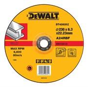 Диск абразивный DeWalt INDUSTRIAL 230*6,3*22,2 металл DT 42620Z-QZ