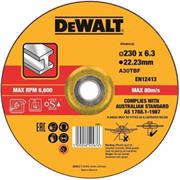 Диск абразивный DeWalt 230*6,3*22,2 металл DT 43919-QZ