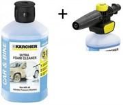 Набор Karcher Пенная насадка бытовая FJ 10 + средство Ultra Foam Cleaner 1 л.     2.643-142